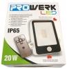 Led wandlamp met sensor dag/nacht Prowerk 20W - IP65 inclusief afstandsbediening